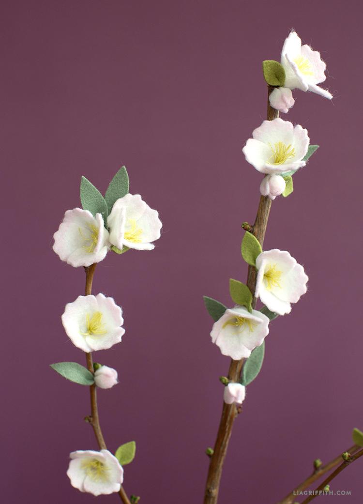 diy cherry blossom branch