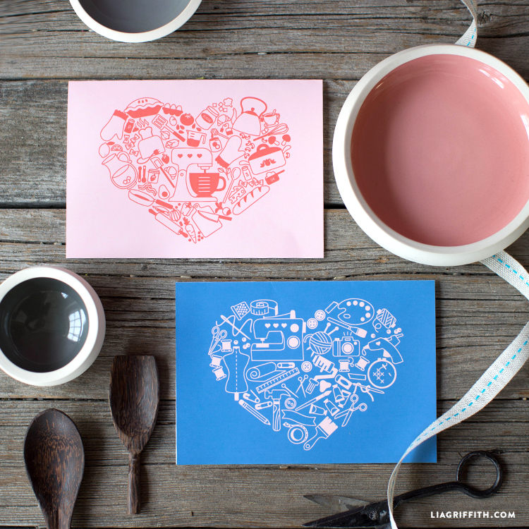 cooking and crafting greeting card