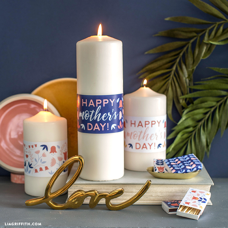 mothers day candle wraps and matchboxes