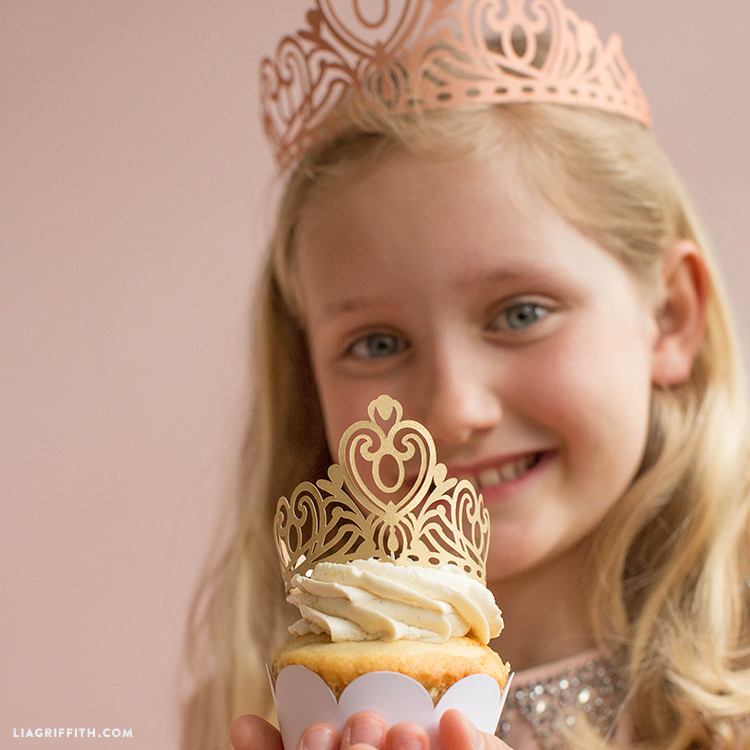 princess crown & cupcake toppers