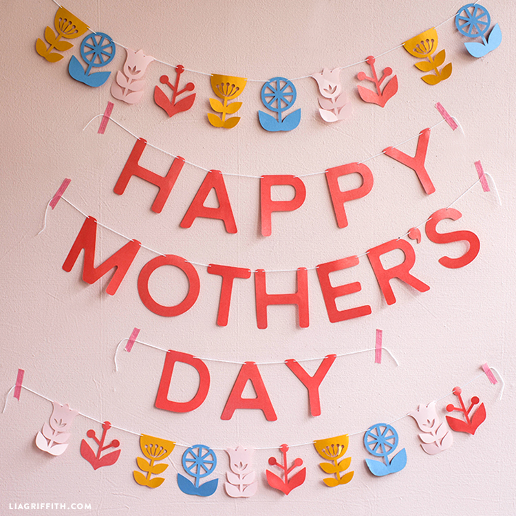 papercut mother's day banner
