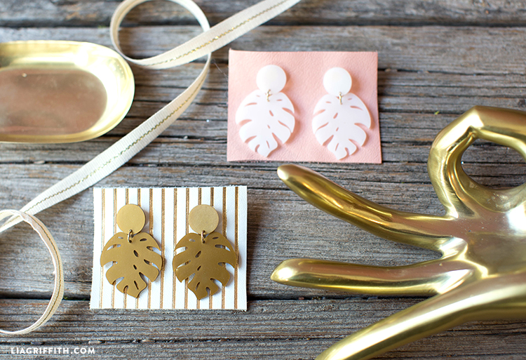 diy shrink film earrings