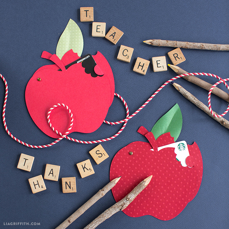 papercut apple gift card holder