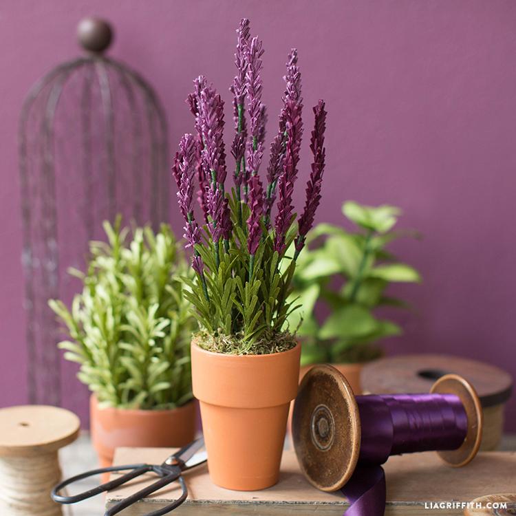 crepe paper lavender plant