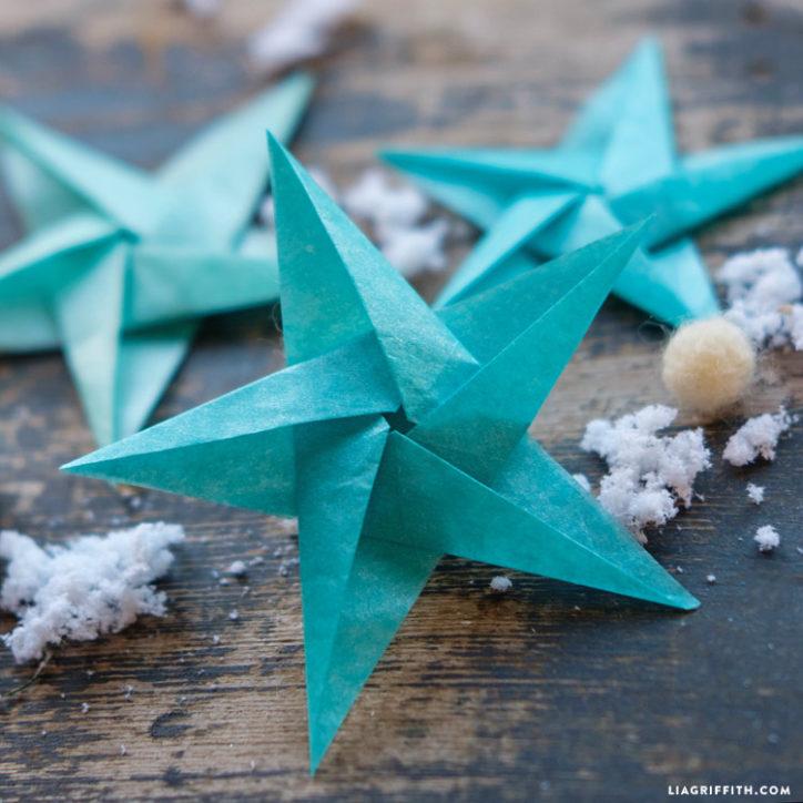 tissue star origami