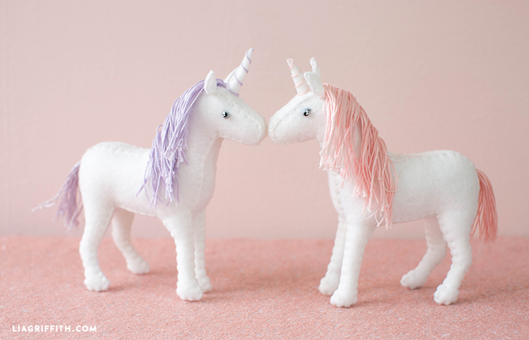 felt unicorn diy