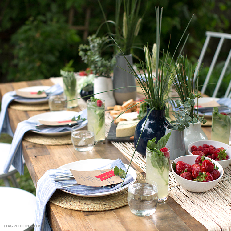 Nautical 4th of July Table