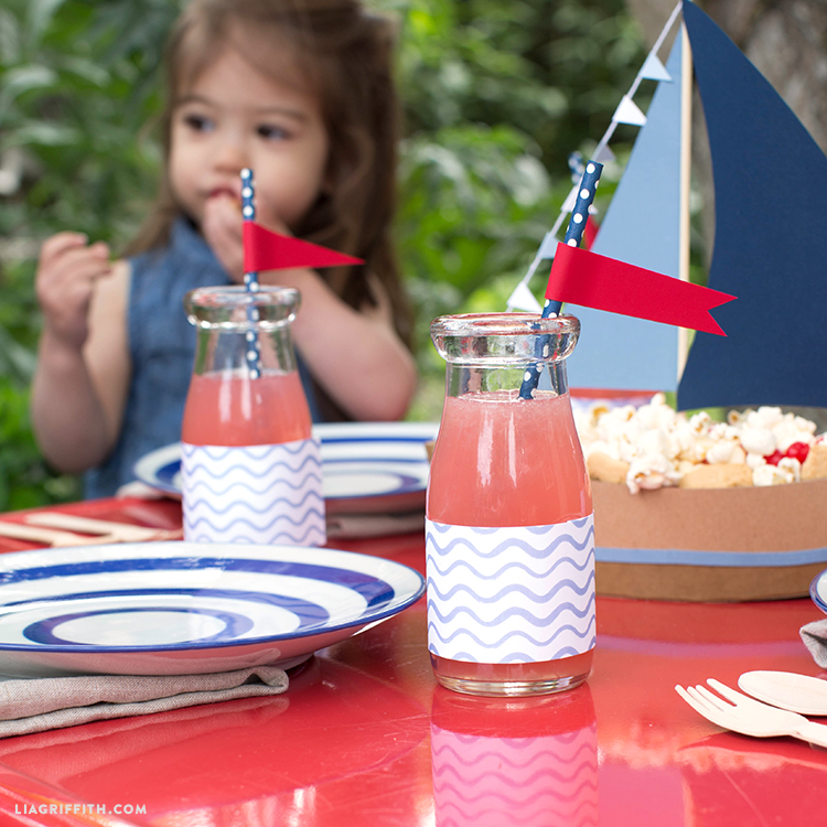 Nautical Decor Straw Toppers