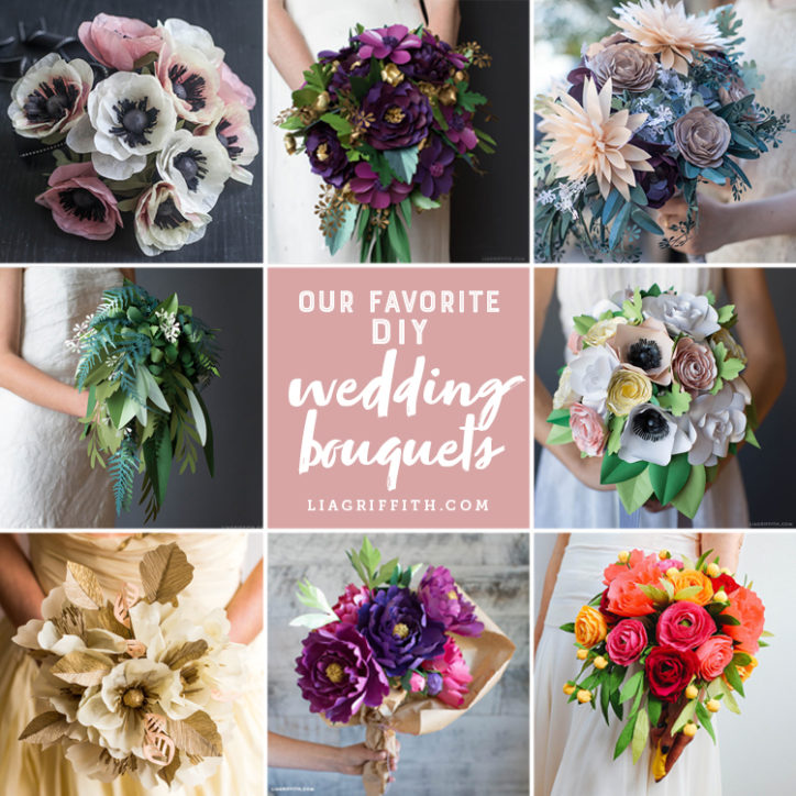 10 Paper Wedding Bouquets to Make For Your Special Day