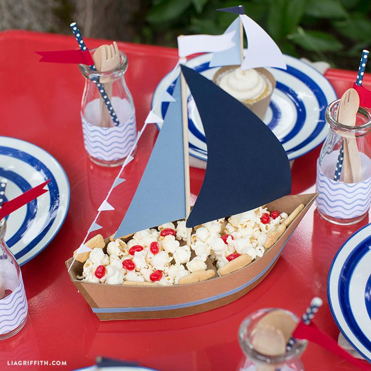 Snack Boat Nautical Centerpiece