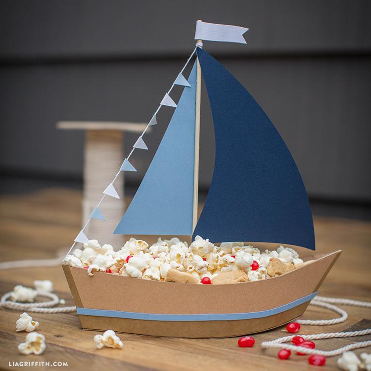 Paper Sailboat Centerpiece