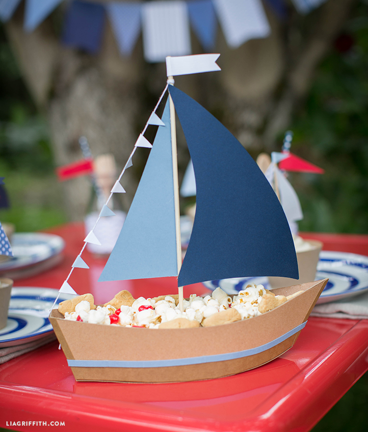 Snacks for Kids Party Nautical Centerpiece