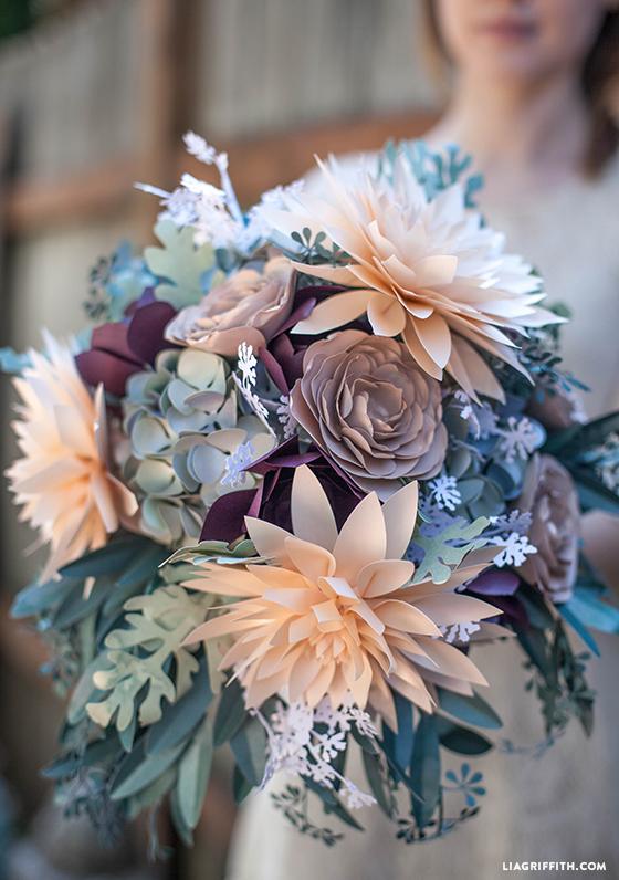 rustic paper wedding bouquet