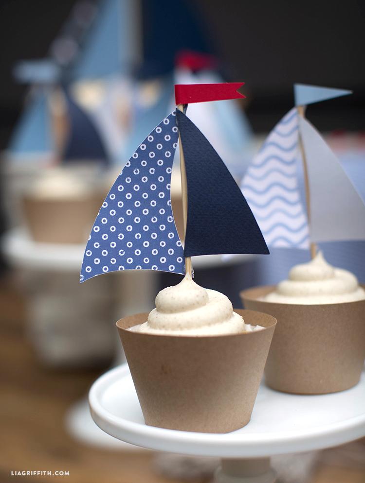 Cupcake Toppers (Nautical)