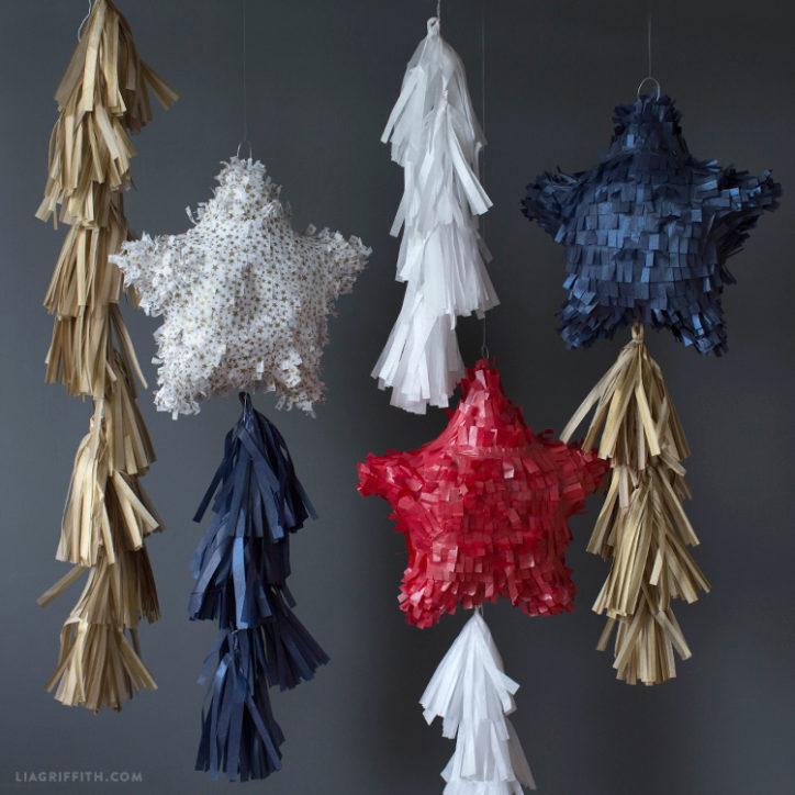tissue paper star pinatas