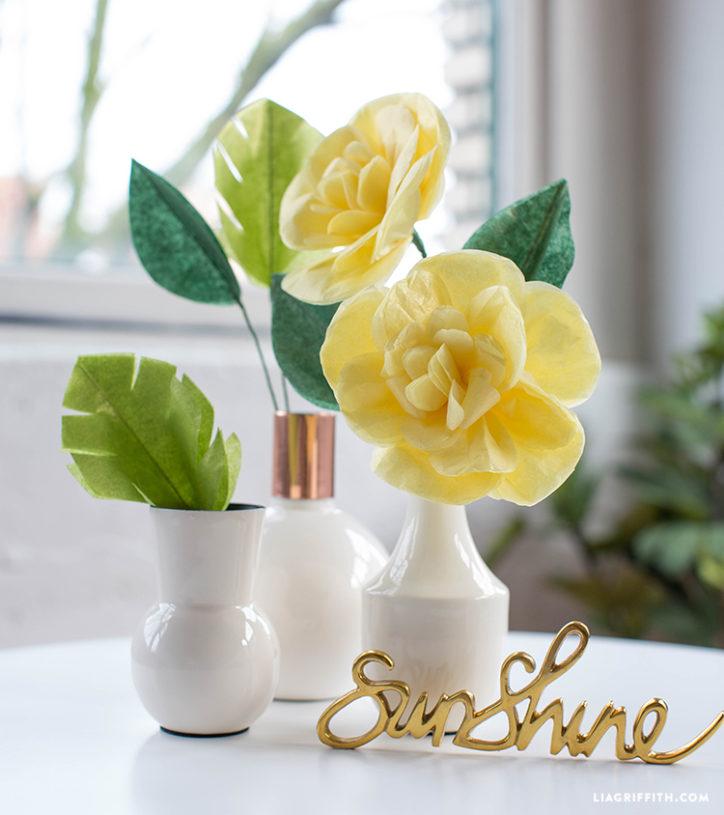 tissue paper cajun hibiscus flower