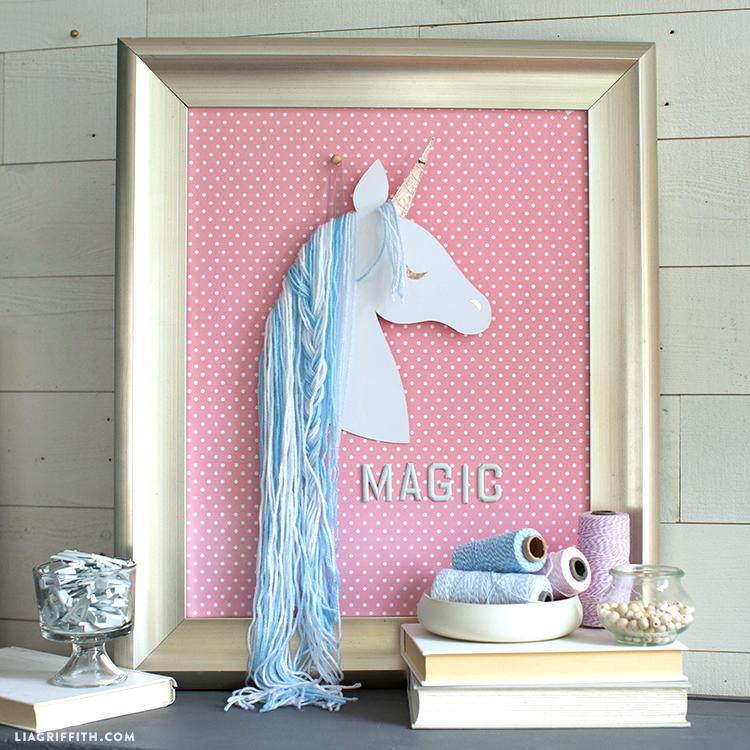 paper unicorn wall art