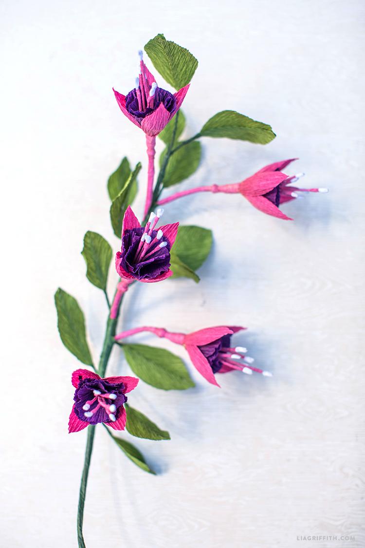Paper Fuchsia Flower
