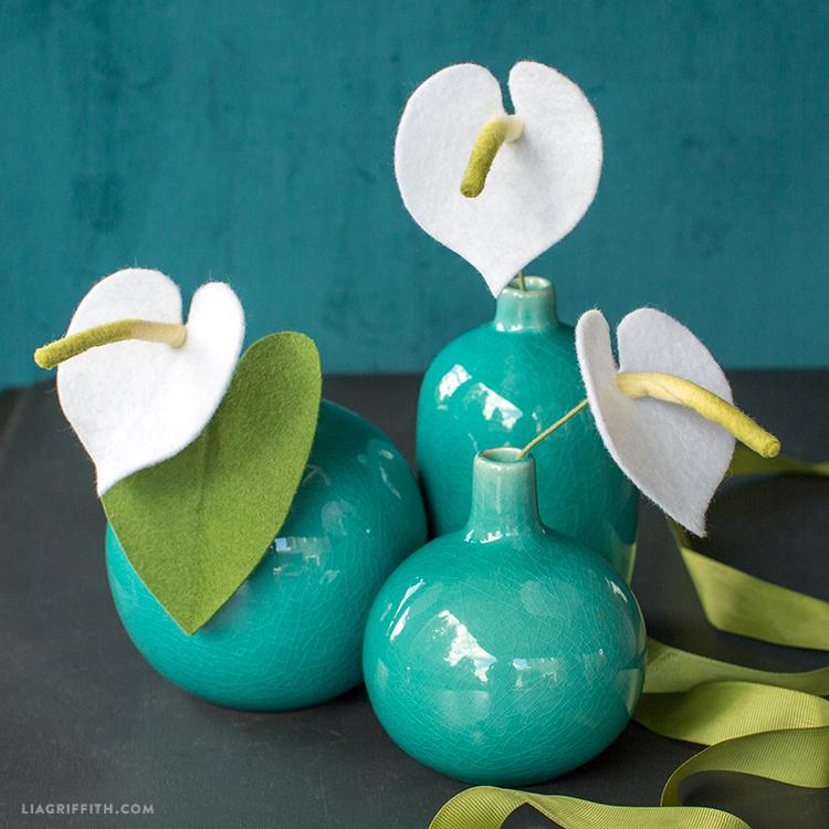 Felt Anthurium Flower