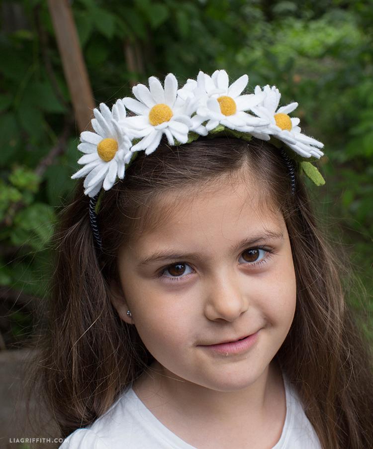 felt daisy headband