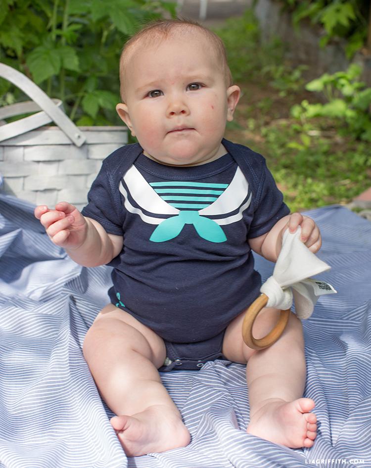 Cute Iron-On Baby Onesie