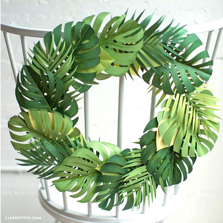 Monstera Leaf Wreath