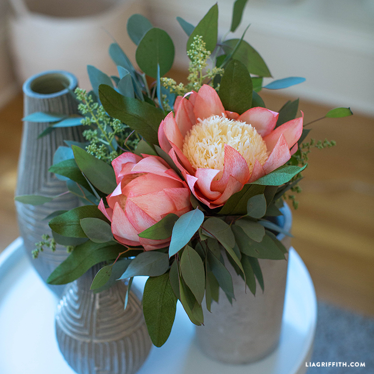 diy protea flower bouquet