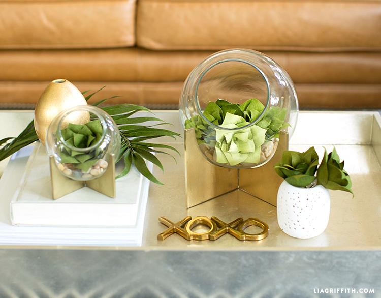 Succulent Plants Double-Sided Crepe Paper