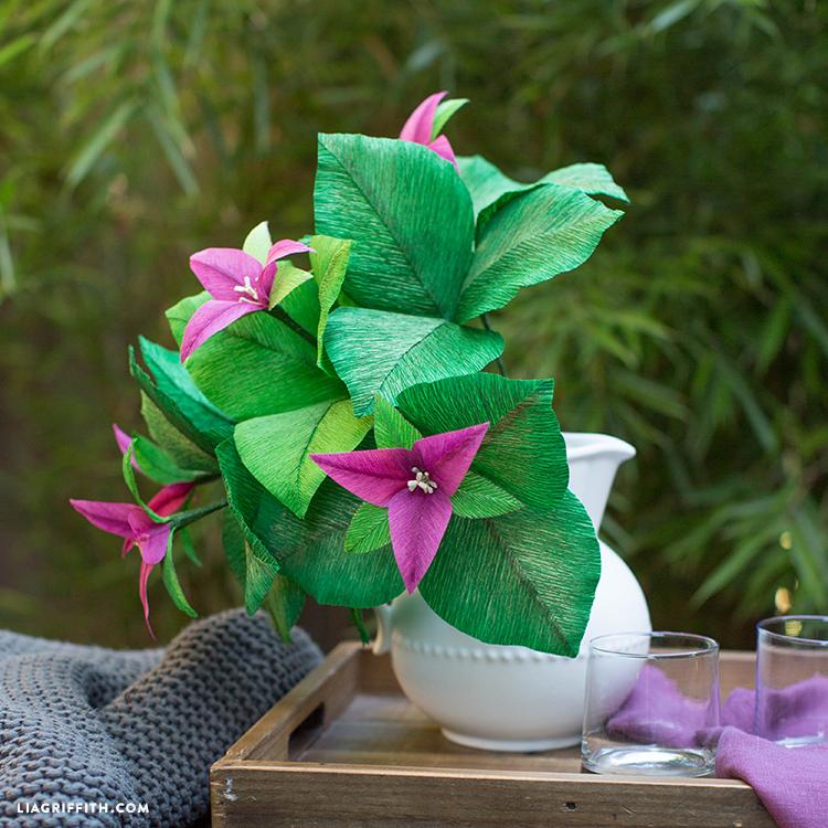 Crepe Paper Trillium Flower
