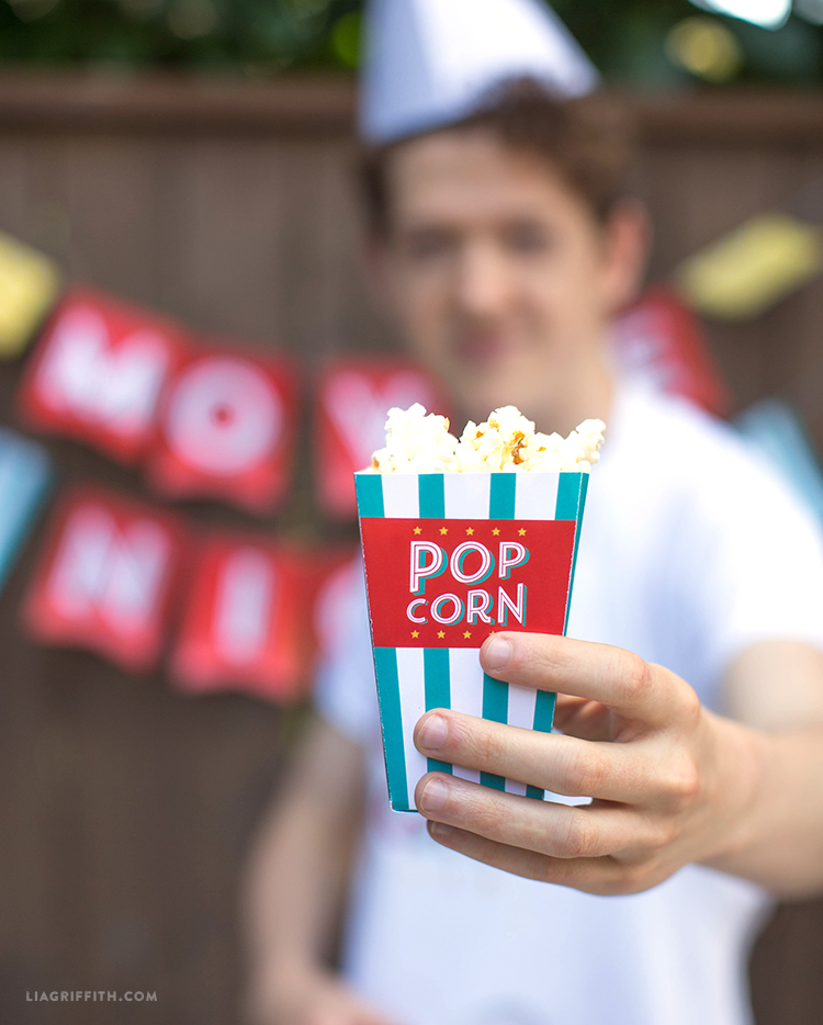 Easy-to-Make Popcorn Boxes