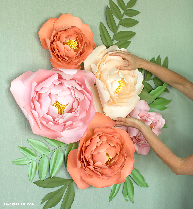 Have Floral Fun With This Paper Jumbo Peonies Backdrop