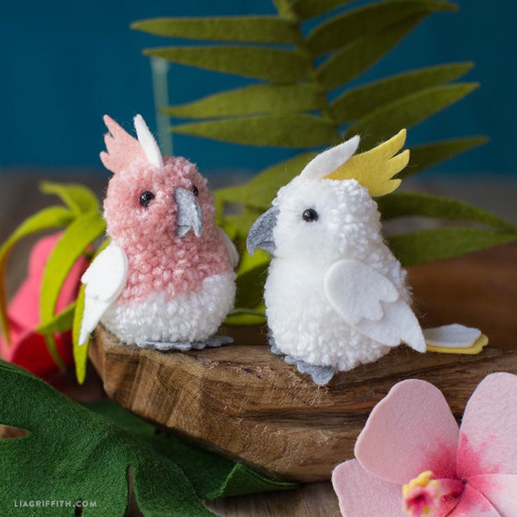 Felt Cockatoos