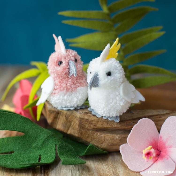 Felt+Pom Cockatoos