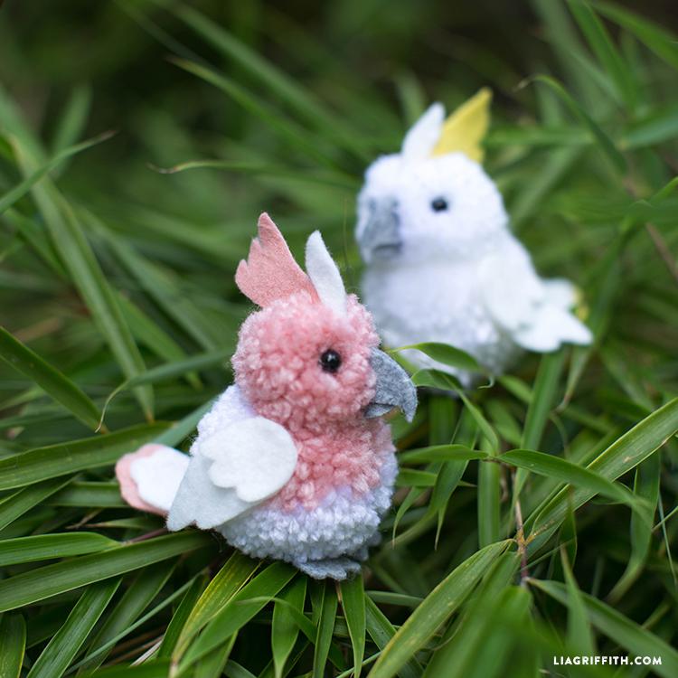 Cockatoos (Felt + Pom-pom)
