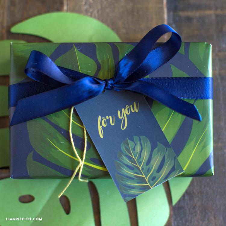 tropical custom gift tag template