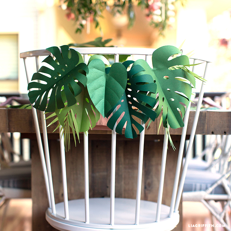 Get Your Party Sizzlin With This Tropical Paper Leaf Garland Now you can save money and do your. tropical paper leaf garland