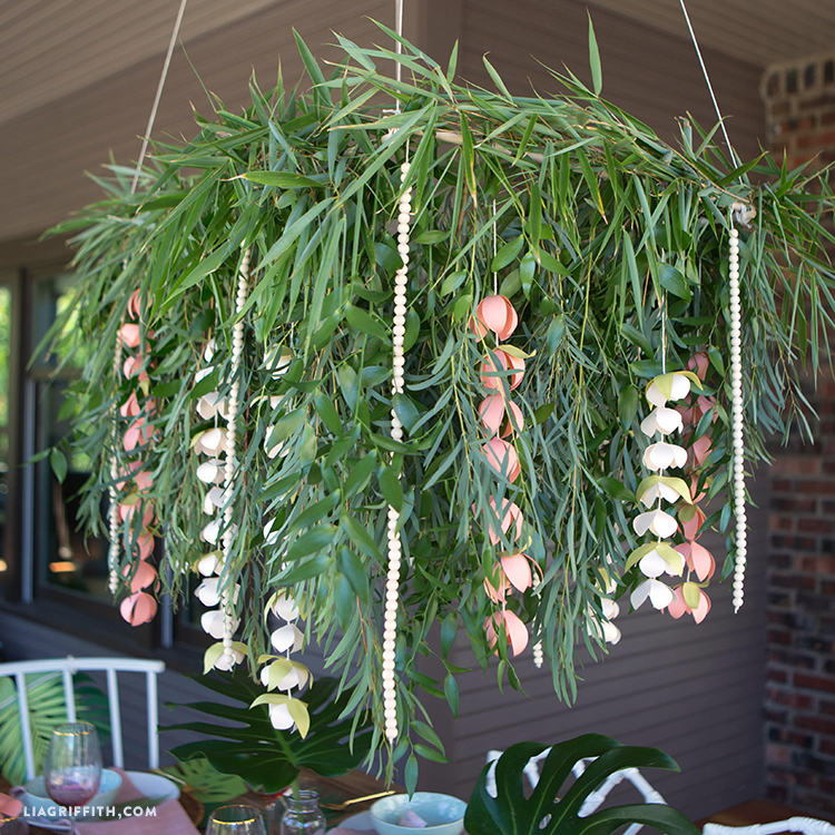 Tropical Paper Chandelier
