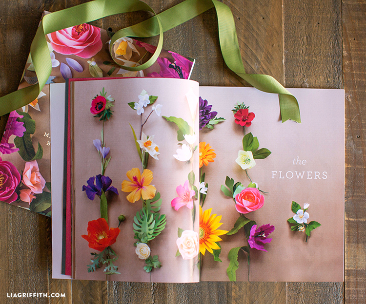 """The """"flowers"""" section in Crepe Paper Flowers book"""