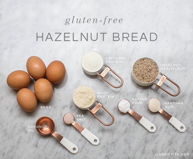 Gluten-free bread recipe using eggs and hazelnuts