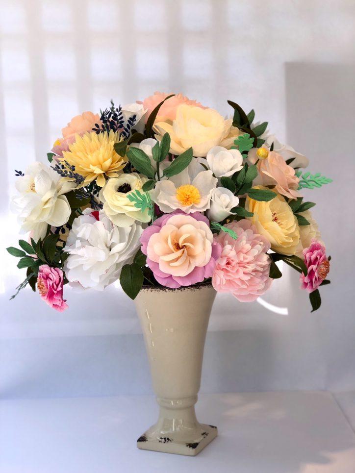 Paper flower bouquet by Susan Bonn