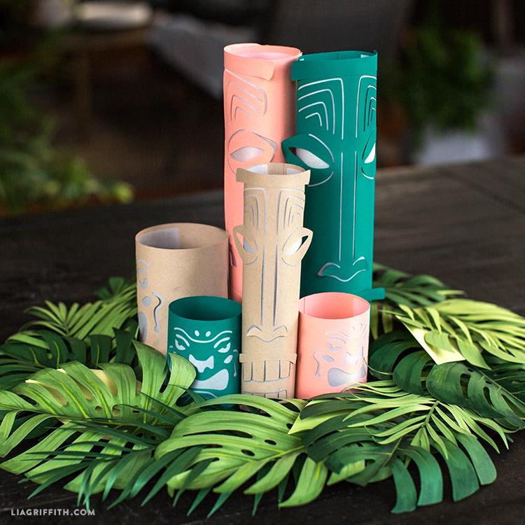 DIY lanterns in paper wreath