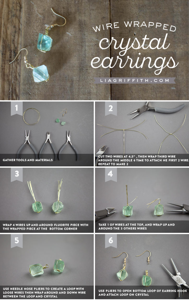 Tutorial for making wire wrapped crystal earrings