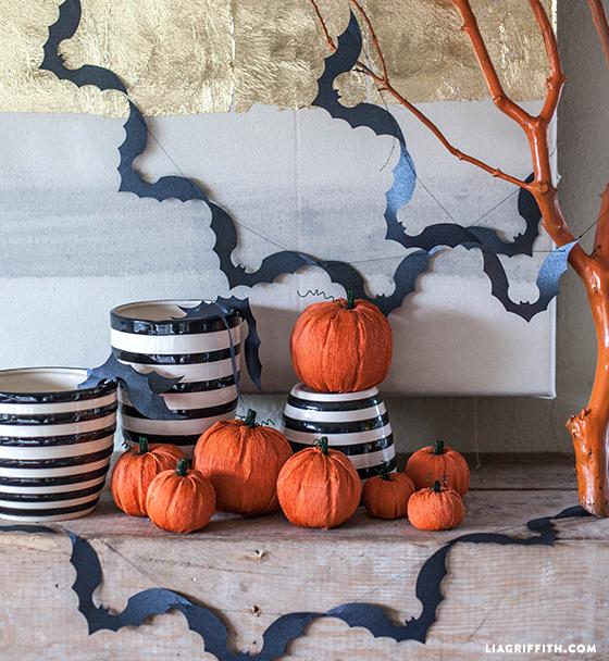 Crepe paper pumpkins