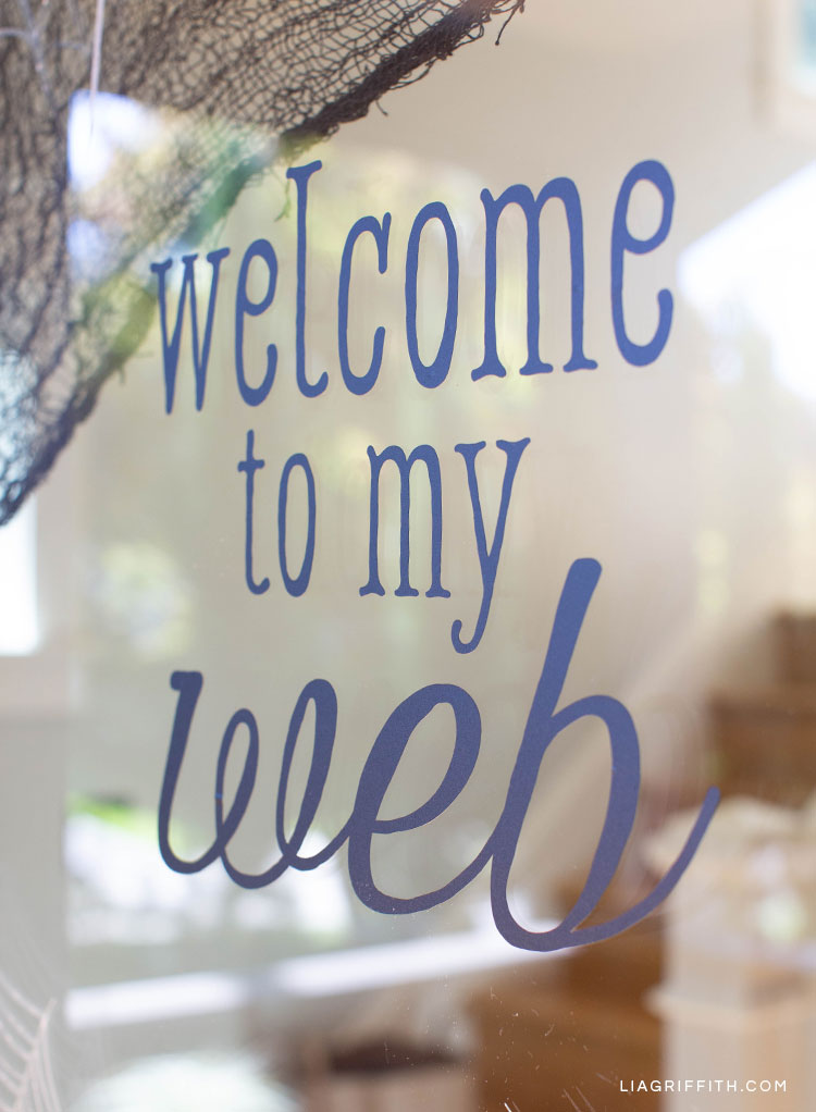 Welcome to my web window cling for Halloween