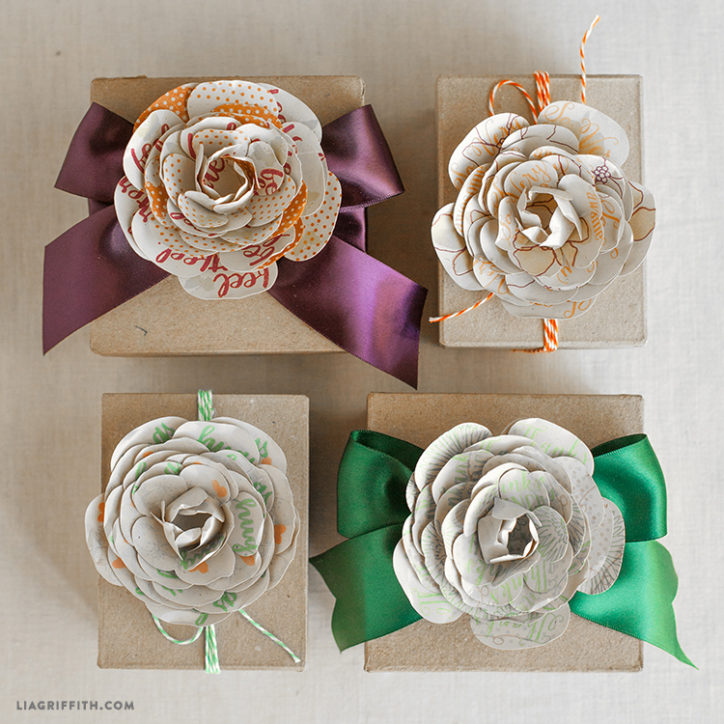 Simple Paper Flowers Stamped With Sweet Sentiments