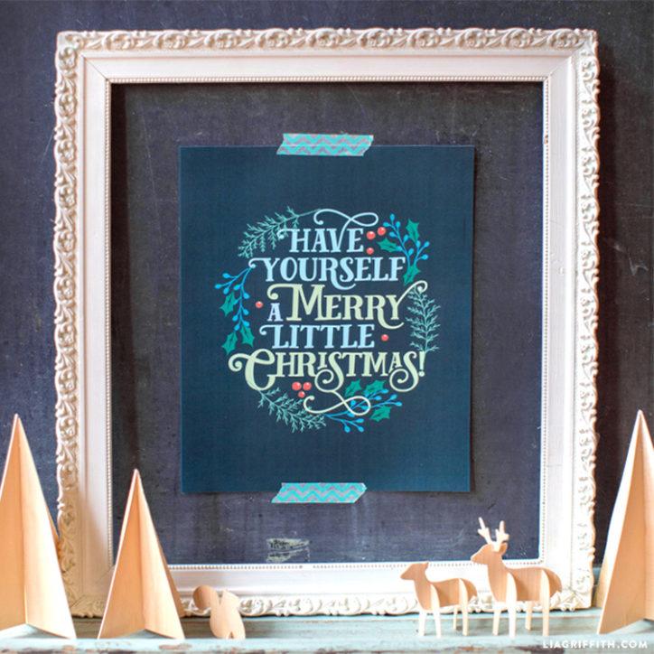 Printable Christmas art by Lia Griffith