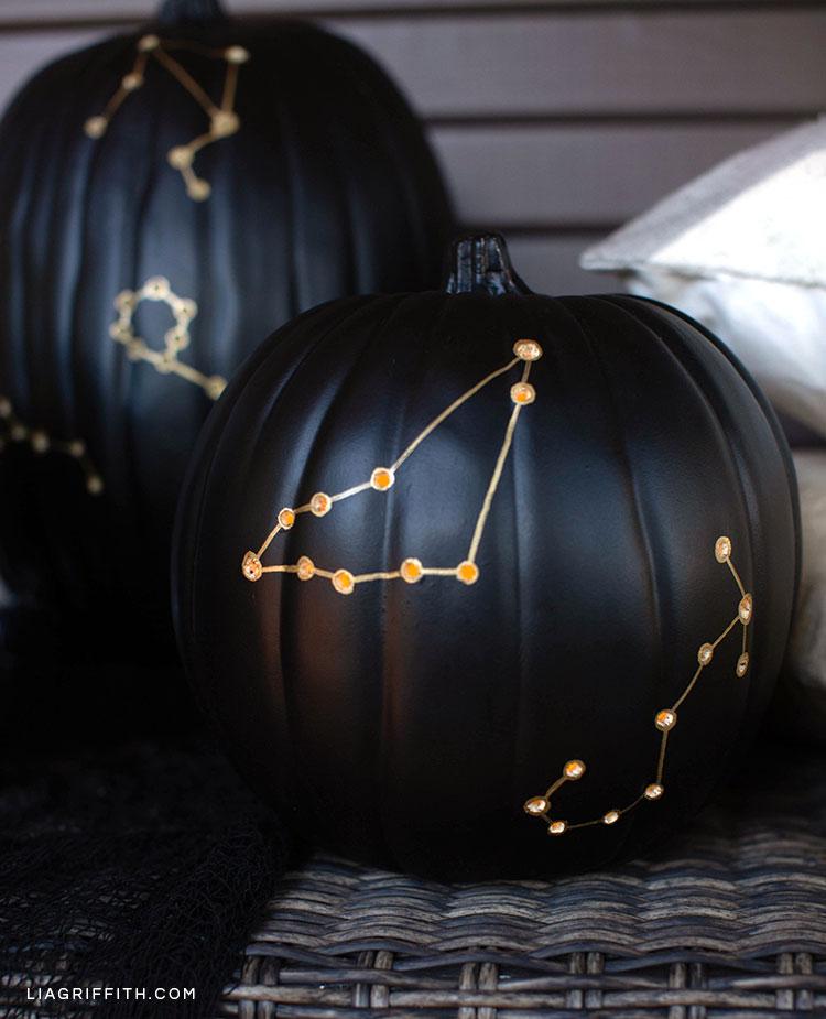 Constellation pumpkin luminaries