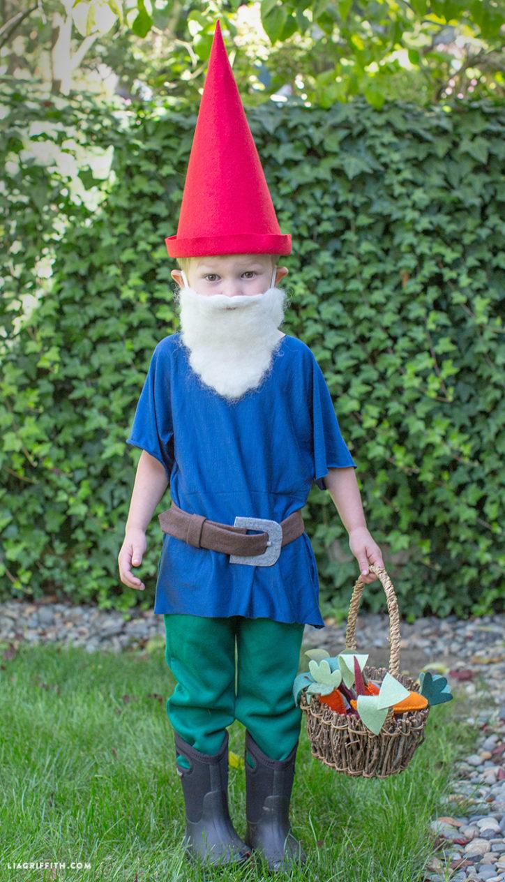 Kid's DIY gnome costume