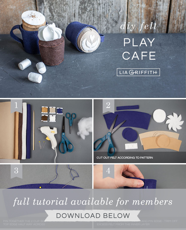 DIY felt play cafe photo tutorial by Lia Griffith