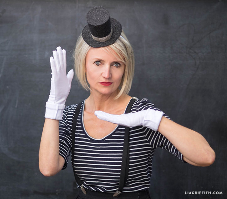 DIY mime costume for adults